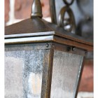 Traditional Dark Bronze Wall Light Frosted Panes