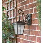 Traditional Dark Bronze Wall Lantern & Scrolled Bracket