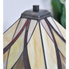 Close up of stain glass shade