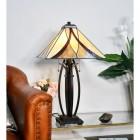 'Coltmoore' Dark Bronze Tiffany Lamp