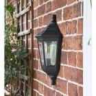 Traditional Black Flush-Fix Wall Lantern