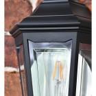 Traditional Flush-Fix Wall Lantern Glass Panes