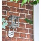 Stainless Steel Wall Lantern in Situ on Brick Wall