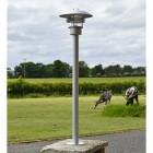 Modern Stainless Steel Driveway Pillar Light on pillar