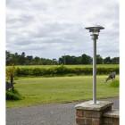 Driveway pillar light in situ on pillar