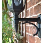 Large Bottom Fix Black Wall Lantern Lower Finial