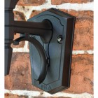 Large Bottom Fix Black Wall Lantern Backplate