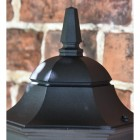 Large Bottom Fix Black Wall Lantern Upper Finial