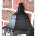Flush-Fix Victorian Black Wall Lantern Upper Finial