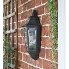 Flush-Fix Black Wall Light