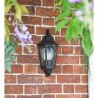 Flush-Fix Victorian Black Wall Light