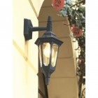 """Bridlington"" Standard Top Fix Black Wall Lantern Colour"