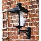 Black Exterior Bottom fix porch lantern on brick wall