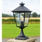 Black Simplistic Victorian Pillar Light 64cm