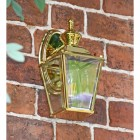 Polished Brass Top-Fix Lantern in Situ