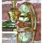 Polished Brass Top-Fix Lantern Oval Backplate