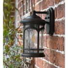 Side view of wall light in situ