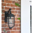 Black Hanging Wall Lantern