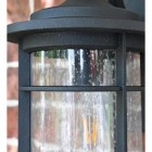 Wall Lantern Seeded Panes