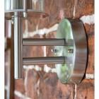 Contemporary Stainless Steel Wall Lantern Circular Mounting Bracket