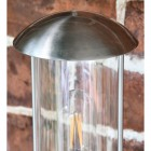 Contemporary Stainless Steel Wall Lantern Top