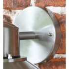 Contemporary Silver Overhanging Wall Light Backplate