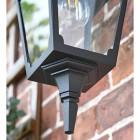 Traditional Black Top-Fix Wall Lantern Lower Finial