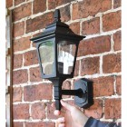 Black Lower-Mounted Traditional Wall Light
