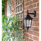 """Moorside"" Traditional Top Down Wall Lantern in Black"