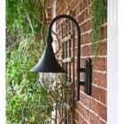 Deluxe Barn Hanging Wall Light Side Profile
