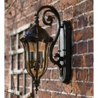 Walnut effect Glendale wall lantern on Manor house