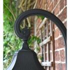 Large Black Ornate Victorian Wall Light Scrolled Bracket