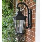 Large Black Ornate Victorian Wall Lantern