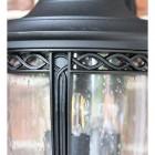 Medium Traditional Top-Fix Black Wall Lantern Detailing