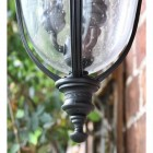Medium Traditional Top-Fix Black Wall Lantern Lower Finial