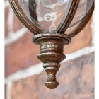 Close up of finial on bottom of lantern