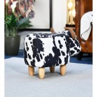 Rear view of Foot Stool Cow version in sitting room