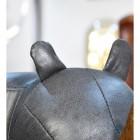 Close up of Rhino ears on Ruby the Rhino Foot Stool