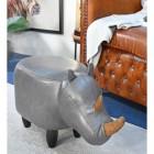 Foot stool of Ruby the Rhino in Situ in Living Room