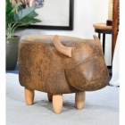 Biscuit the Brown Cow Foot Stool