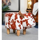 Buttercup the Brown & White Cow Foot Stool