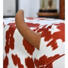 Brown horns on cow foot stool