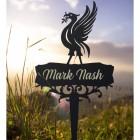Liver Bird Ground Spike with Personalisation
