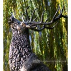 Classic bronze finish Highland Stag on rock