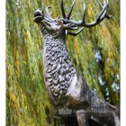 Detailed image of stag face and horns finished in Bronze
