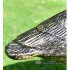 Looking Up Bronze Finish Geese Garden Sculpture Close Up