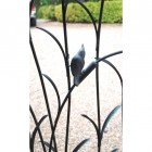Traditional Iron Garden Gate with Bird Detailing Close Up