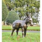 Antique Bronze Travelling Donkey Sculpture in Situ