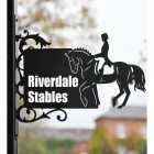 Dressage Horse Bracket House Name Sign