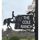 Dressage Horse Iron Bracket House Name Sign in Full